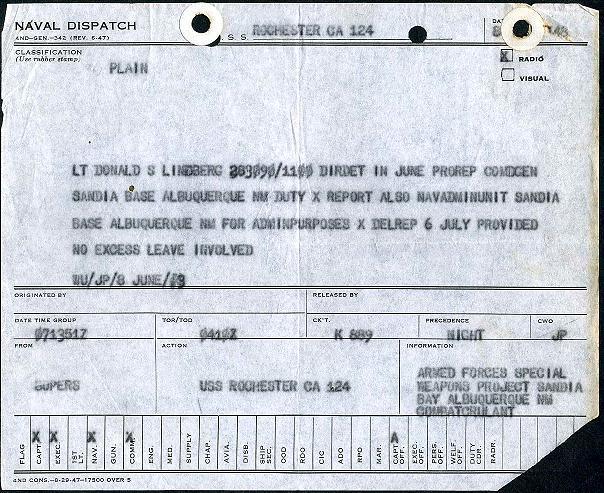 Lindberg Certificates